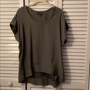 CottonOn olive green short sleeve blouse